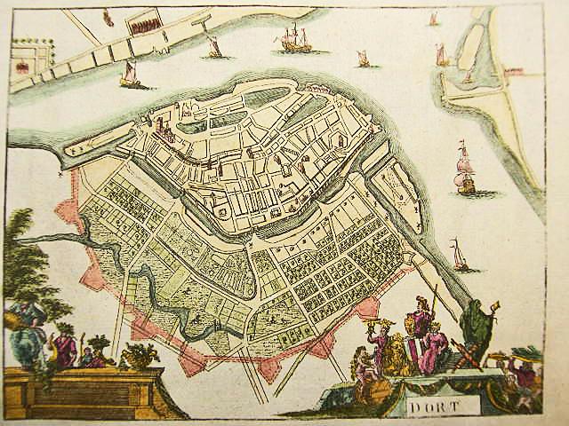 DORT-NIEDERLANDE-BENELUX-KOL-KUPFERSTICH-ANSICHT-CHRYSTIN-1786-AD-D861